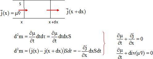 equation de conservation de la masse
