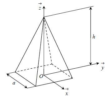 Centre de masse d 39 une pyramide d 39 un demi cerceau for Calcul metre carre d une piece
